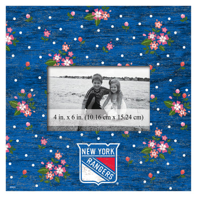 New York Rangers Floral Picture Frame