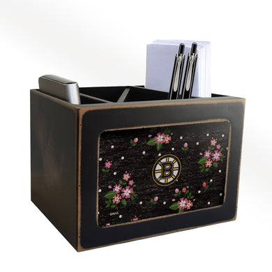 Boston Bruins Floral Desktop Organizer