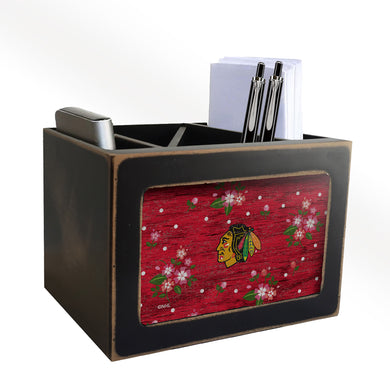 Chicago Blackhawks Floral Desktop Organizer
