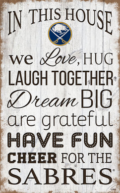 Buffalo Sabres House Rules Sign - 11