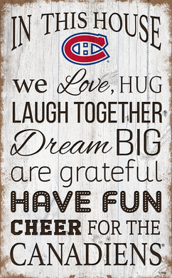 Montreal Canadiens House Rules Sign - 11