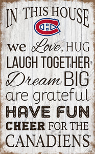 "Montreal Canadiens House Rules Sign - 11""x19"""
