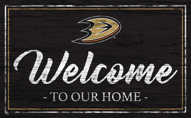 Anaheim Ducks Welcome Sign