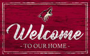 Arizona Coyotes Welcome Sign