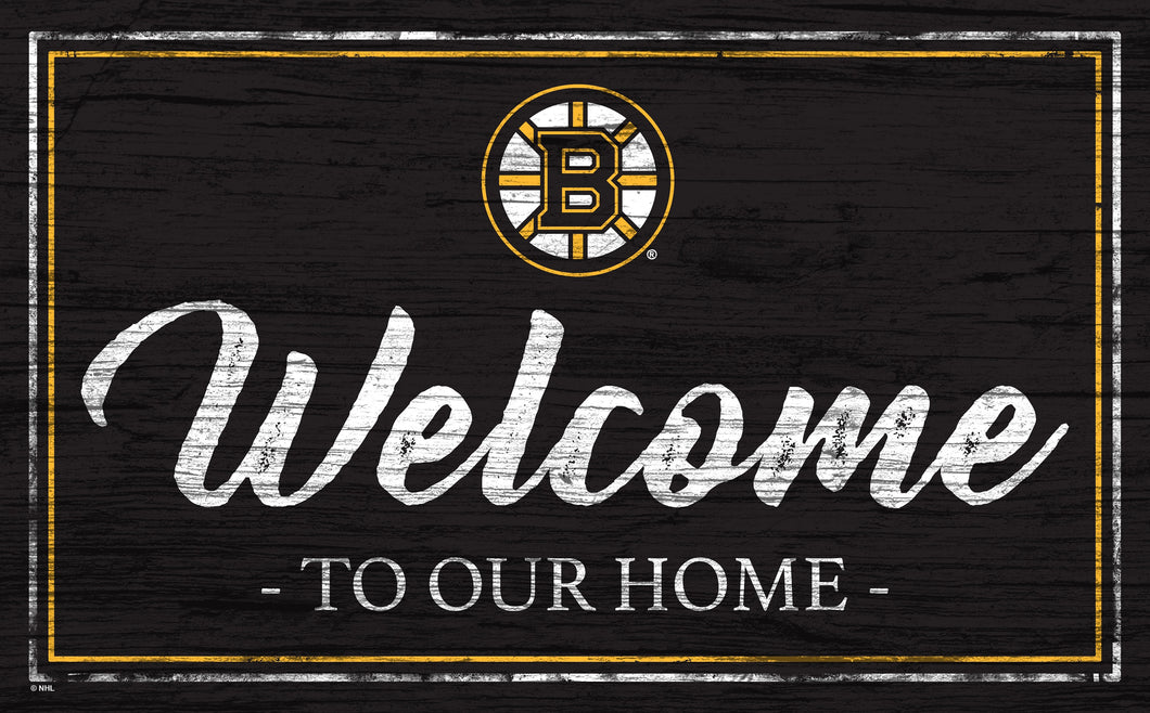 Boston Bruins Welcome Sign