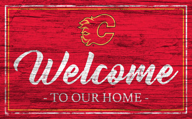 Calgary Flames Welcome Sign