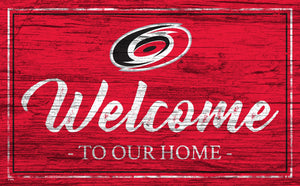 Carolina Hurricanes Welcome Sign