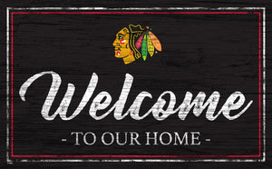 Chicago Blackhawks Welcome Sign
