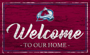 Colorado Avalanche Welcome Sign