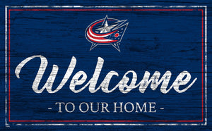Columbus Blue Jackets Welcome Sign