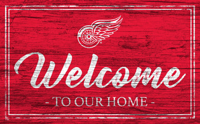 Detroit Red Wings Welcome Sign