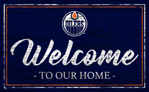 Edmonton Oilers Welcome Sign