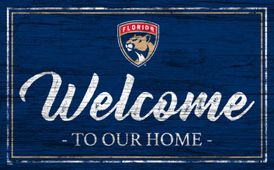 Florida Panthers Welcome Sign