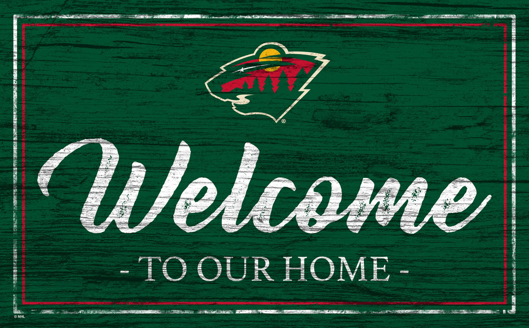Minnesota Wild Welcome Sign