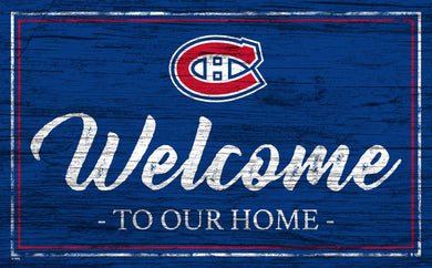Montreal Canadiens Welcome Sign