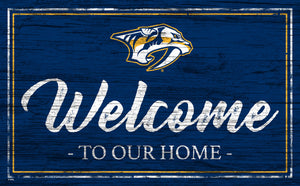 Nashville Predators Welcome Sign