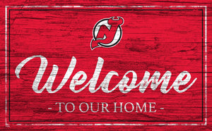 New Jersey Devils Welcome Sign