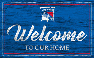 New York Rangers Welcome Sign
