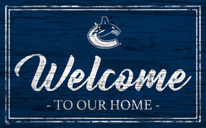 Vancouver Canucks Welcome Sign