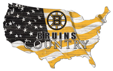 Boston Bruins USA Shape Flag Cutout