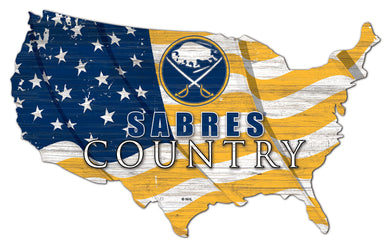 Buffalo Sabres USA Shape Flag Cutout
