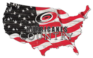 Carolina Hurricanes USA Shape Flag Cutout