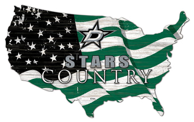 Dallas Stars USA Shape Flag Cutout