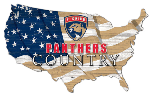Florida Panthers USA Shape Flag Cutout