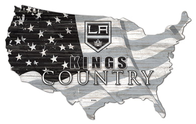 Los Angeles Kings USA Shape Flag Cutout