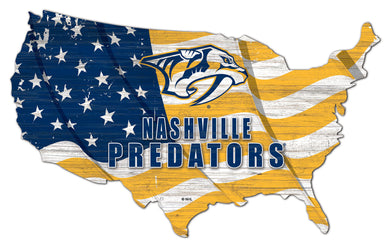 Nashville Predators USA Shape Flag Cutout