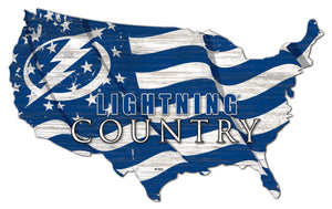Tampa Bay Lightning USA Shape Flag Cutout