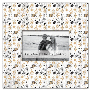 Anaheim Ducks Floral Pattern Picture Frame