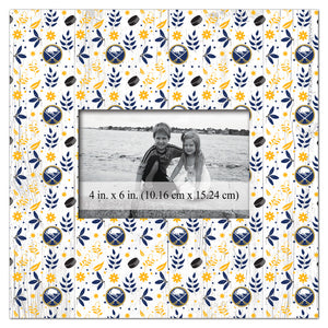 Buffalo Sabres Floral Pattern Picture Frame