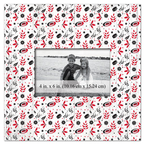 Carolina Hurricanes Floral Pattern Picture Frame