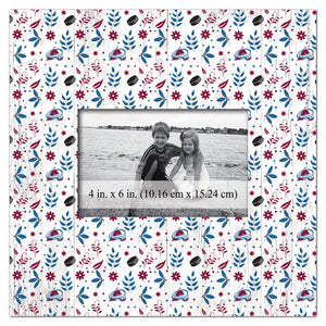 Colorado Avalanche Floral Pattern Picture Frame