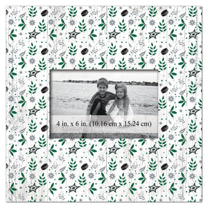 Dallas Stars Floral Pattern Picture Frame