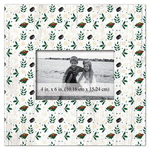 Minnesota Wild Floral Pattern Picture Frame