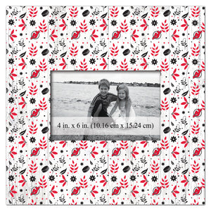 New Jersey Devils Floral Pattern Picture Frame