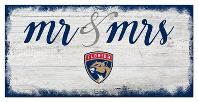 Florida Panthers Mr. & Mrs. Script Wood Sign - 6