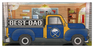 "Buffalo Sabres Best Dad Truck Sign - 6""x12"""