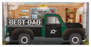 "Dallas Stars Best Dad Truck Sign - 6""x12"""