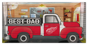 "Detroit Red Wings Best Dad Truck Sign - 6""x12"""
