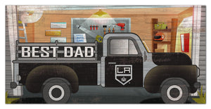 "Los Angeles Kings Best Dad Truck Sign - 6""x12"""