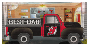 "New Jersey Devils Best Dad Truck Sign - 6""x12"""