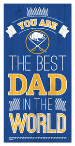 "Buffalo Sabres Best Dad Wood Sign - 6""x12"""