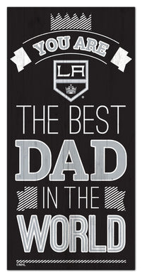 Los Angeles Kings Best Dad Wood Sign - 6