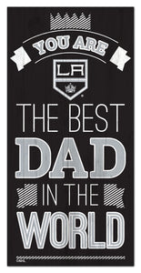 "Los Angeles Kings Best Dad Wood Sign - 6""x12"""