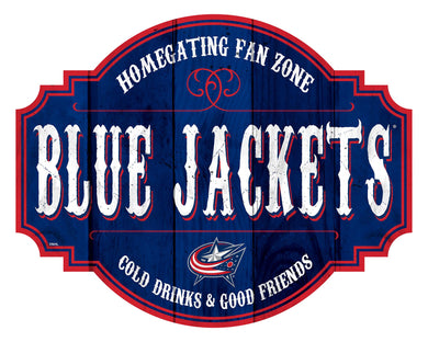Columbus Blue Jackets Homegating Wood Tavern Sign