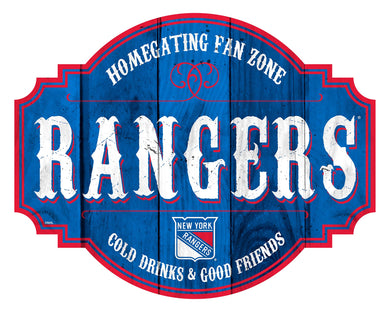 New York Rangers Homegating Wood Tavern Sign