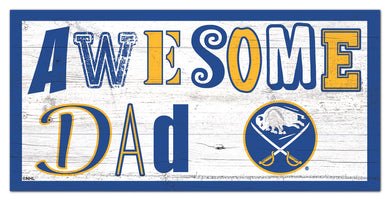 Buffalo Sabres Awesome Dad Wood Sign - 6